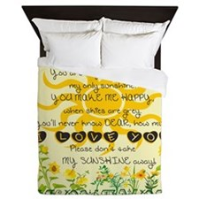 You are my sunshine! Queen Duvet