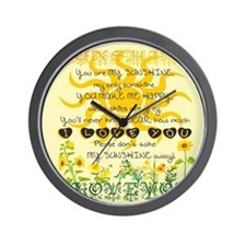You are my sunshine! Wall Clock