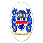 Minarik Sticker (Oval 10 pk)