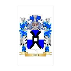 Mills Sticker (Rectangle 50 pk)