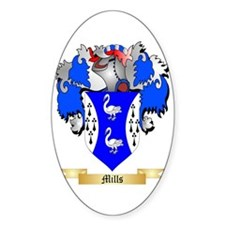 Mills (Ulster) Sticker (Oval)