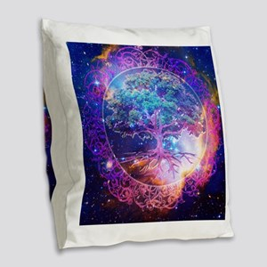 Miracle Burlap Throw Pillow