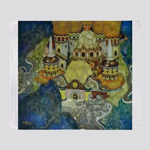 Serbian Fairy Tale - Bashtchelik Throw Blanket