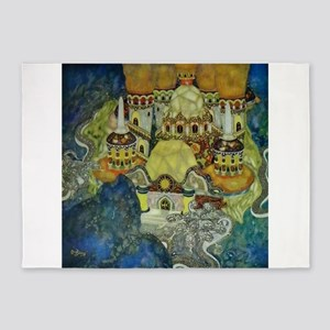 Serbian Fairy Tale - Bashtchelik 5'x7'Area Rug