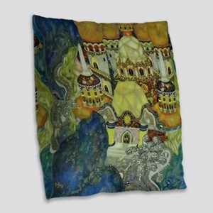 Serbian Fairy Tale - Bashtchel Burlap Throw Pillow