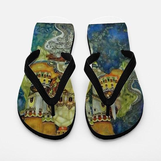 Serbian Fairy Tale - Bashtchelik Flip Flops
