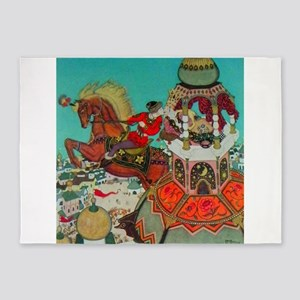 Russian Fairy Tale - Ivan and Chest 5'x7'Area Rug