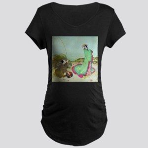 Japanese Fairy Tale - Ura Maternity Dark T-Shirt