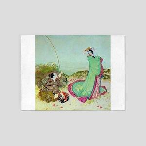 Japanese Fairy Tale - UrashimaTar 5'x7'Area Rug