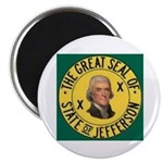 """Jefferson 2.25"""" Round Magnets (100 Pack)"""