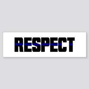Thin Blue Line Bumper Sticker