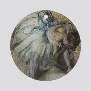 Degas ballet art Round Ornament