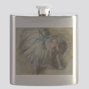 Degas ballet art Flask