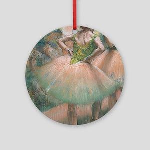 Degas ballet art Round Ornament