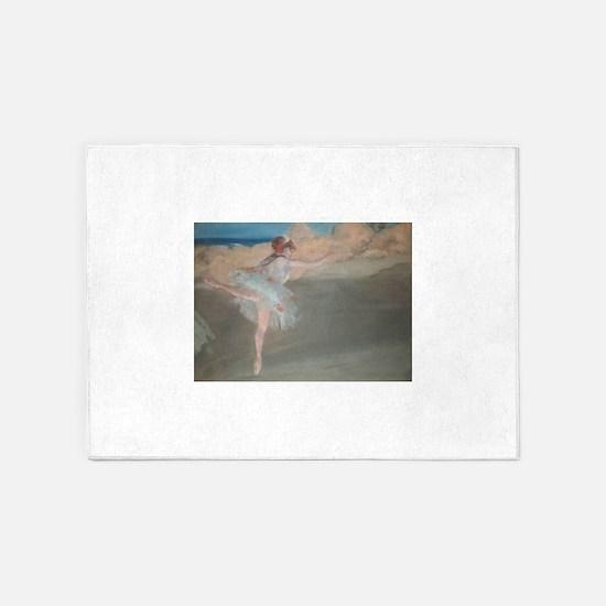 Degas ballet art 5'x7'Area Rug