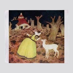 French Fairy Tale - Hind in the Wood Throw Blanket
