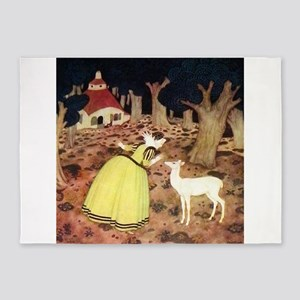 French Fairy Tale - Hind in the Woo 5'x7'Area Rug
