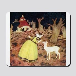 French Fairy Tale - Hind in the Wood Mousepad