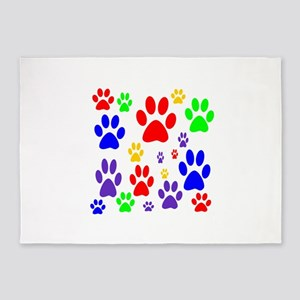 Rainbow Paws 5'x7'Area Rug