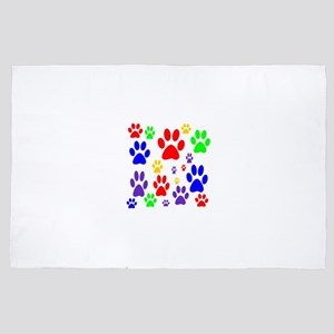 Rainbow Paws 4' x 6' Rug