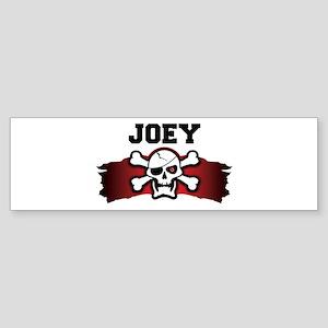 joey is a pirate Bumper Sticker