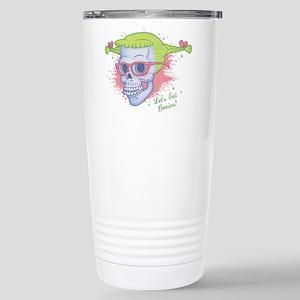 Nerd Girl Zombie Skull Stainless Steel Travel Mug