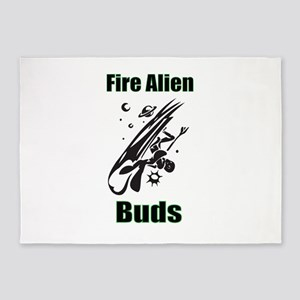 Fire Alien Buds 5'x7'Area Rug