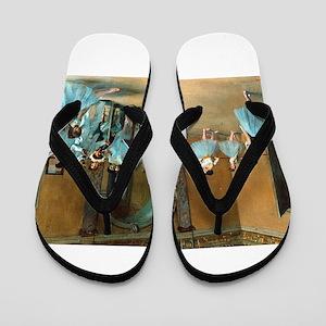 Degas ballet art Flip Flops