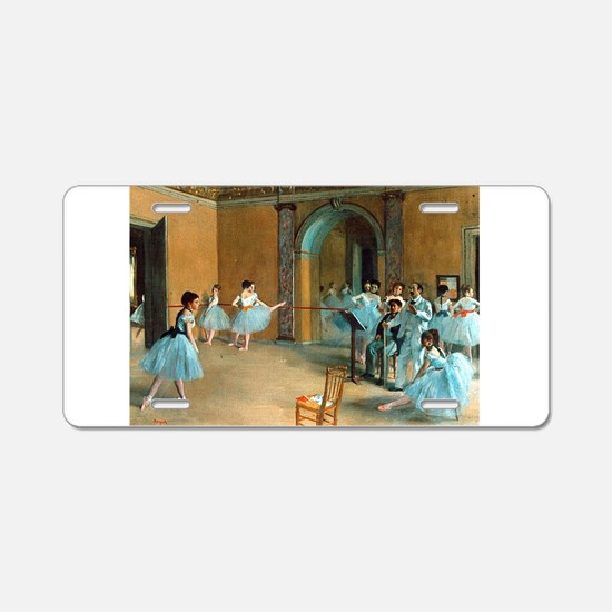 Degas ballet art Aluminum License Plate