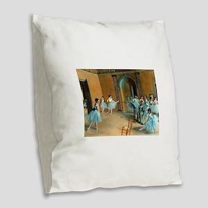 Degas ballet art Burlap Throw Pillow