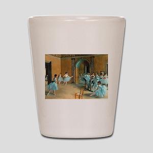 Degas ballet art Shot Glass