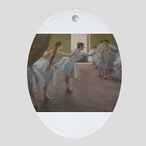 Degas ballet art Oval Ornament