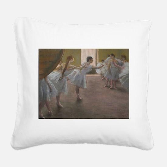 Degas ballet art Square Canvas Pillow