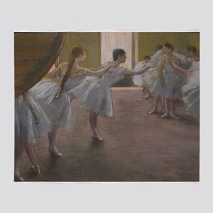 Degas ballet art Throw Blanket