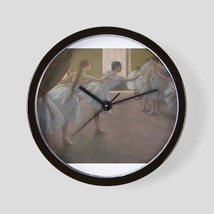 Degas ballet art Wall Clock
