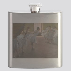 Degas ballet art Flask