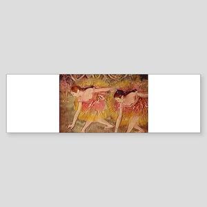 Degas ballet art Bumper Sticker
