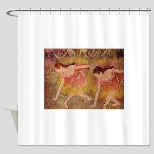 Degas ballet art Shower Curtain