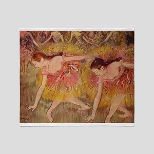Degas ballet art Throw Blanket