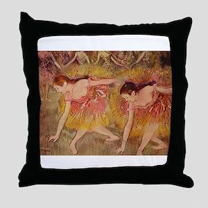 Degas ballet art Throw Pillow
