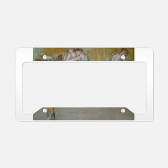 degas ballet art License Plate Holder
