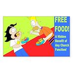 Free Church Food! Sticker (Rectangle 10 pk)