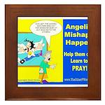 Angelic Mishaps Framed Tile