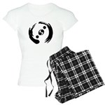 Women's Light Pajamas With Black Logo