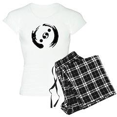 Women's Light Pajamas With Black Logo