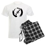 Men's Light Pajamas With Black Logo