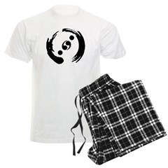 Men's Light Pajamas With Black Logo