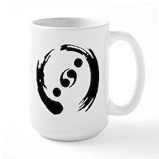 White Mug With Black Logo Mugs