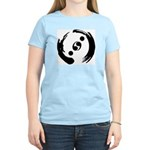Women's Light Colored T-Shirt With Black Logo