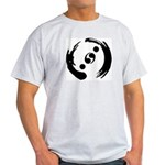 Men's Light Colored T-Shirt With Black Logo
